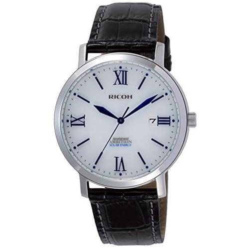 [リコー]RICOH 腕時計 シュルード・アンビション ソーラー充電式 10気圧防水 ホワイト 697008-08 メンズ