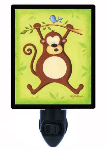 Childrens Night Light - Playful Monkey - Kids Led Night Light front-1059323