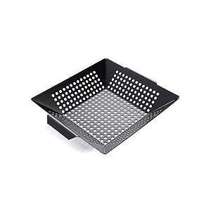 Charcoal Companion Nonstick 12-Inch Square Grilling Wok