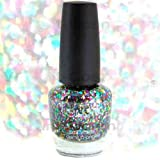 Rainbow Glitter Multi Sparkle Effect Nail Polish Lacquer....Multi Colour Dazzle & Glitter