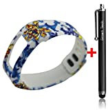 Smart Tech Store Lily Roses Flowers White Replacement Band With Clasp for Garmin Vivofit Only /No tracker/ Wireless Activity Bracelet Sport Wrist band Garmin Vivo fit Bracelet Sport Arm Band Armband