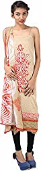 Hardy's Style Women's Pashmina Dress Material (HS-15, Cream)