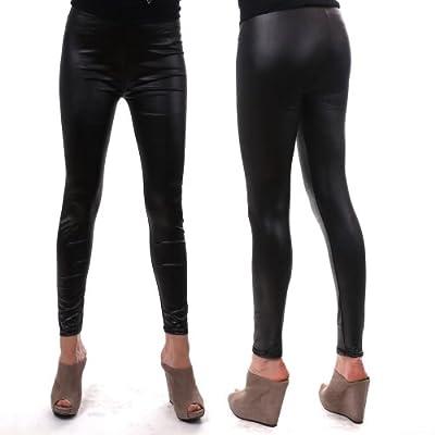 Damen Wetlook-Leggings, Leggings, Hose Tattoo Print leggings, SS-ENRXF9229