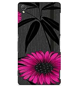 PrintVisa Flower And Leaves Design 3D Hard Polycarbonate Designer Back Case Cover for Sony Xperia Z3