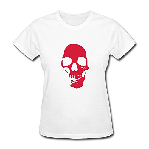Particular Skull Tshirts Making For Adult White