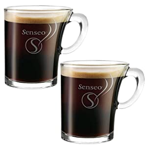 Senseo Tasse en Verre Design, 180ml, Lot de 2