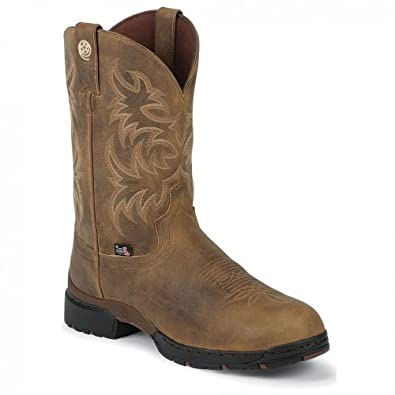 Justin Men's WP Work Justin Tan Man-Made Boot 6 D US