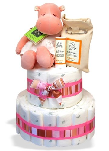 Hippo Diaper Cake| Baby Shower Centerpiece