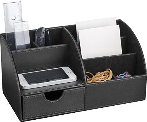 Pavo-8002498-Premium-Multifunktionale-PU-Leder-Schreibtisch-Organizer-schwarz