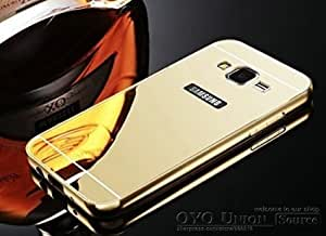 IOR Gold Luxury Metal Bumper + Mirror Back Cover Case For Samsung Galaxy Grand prime G530