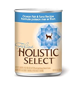 Holistic Select Canned Cat Food, Ocean Fish and Tuna Recipe, 12