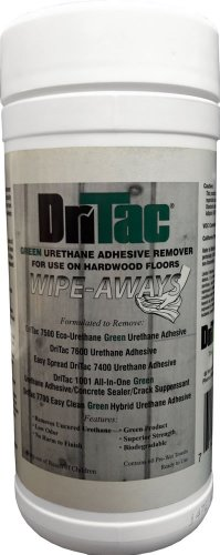 DriTac Green Urethane Adhesive Remover Wipe-Aways - 60 Towels