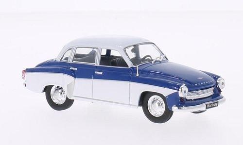 Wartburg-312-blauweiss-1965-Modellauto-Fertigmodell-WhiteBox-143