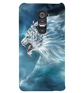 PRINTSWAG LION Designer Back Cover Case for LG G2