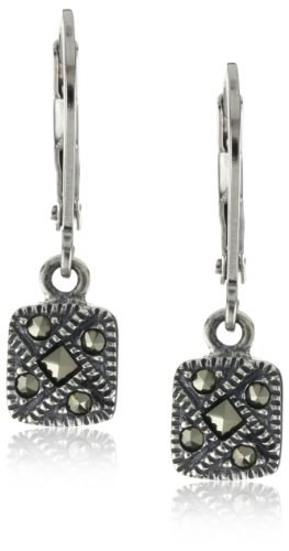 Judith Jack Sterling Silver Marcasite Square Drop Earrings (Judith Jack Marcasite Jewelry compare prices)