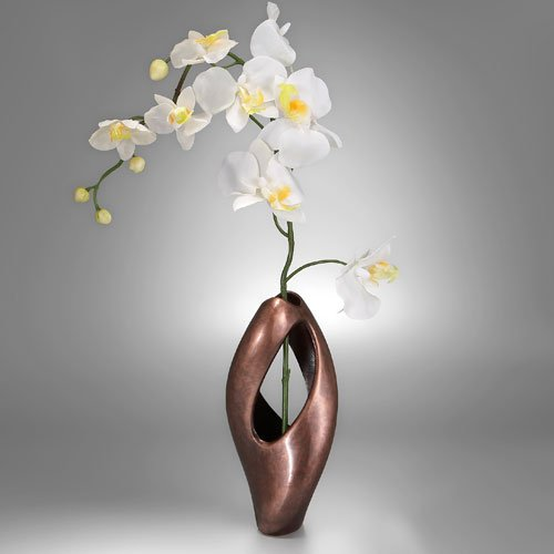 Vases For Weddings Nambe Pebble Twist Bud Vase With Orchid