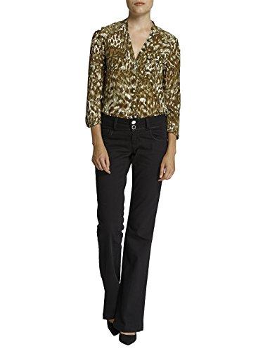 Morgan - jeans - bootcut - femme - noir -...