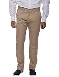 COTTON COLORS Men's Semi-casuals Cotton Khaki Trouser