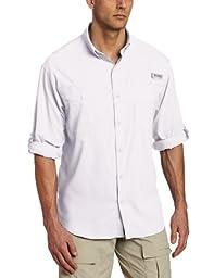 Columbia Men\'s Tamiami II Long Sleeve Fishing Shirt (White, Large)