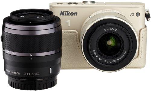 Amazon.co.jp限定Nikon1 J3 HLK+30-110㎜ダブルズームセットA ベージュ N1J3+30-110BGWZKA