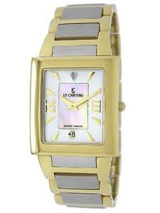 Le Chateau Men's 1816LCMTT_WHTandBEIGE Diamond Accented Two-Tone Watch