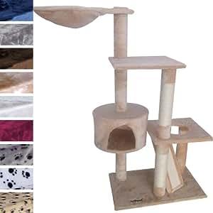 Leopet - Arbre à chat grattoir Beige - 1,35 m - DIVERSES COULEURS AU CHOIX