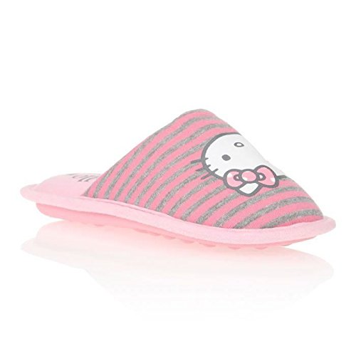 Hello kitty vysoud Scarpe 34 Pantofole bambina, Grigio (Rose et gris), 33