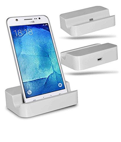 Samsung Galaxy J7 SM-J700F Station d'accueil de bureau avec chargeur Micro USB support de chargement - White - By Gadget Giant®