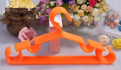 Candy Color Children Solid Plastic Hangers, Baby Clothes Hanger(Ten Pack) front-592554