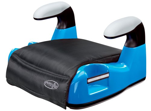 Evenflo Big Kid AMP No Back Booster Car Seat, Blue