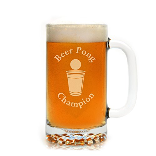 Engraved Beer Pong Champion Beer Mug (Beer Pong Champions compare prices)