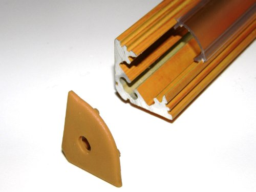 Aluminium Profile P3 For Led Strips / Tapes; Corner, Wood Pine Finish, With Transparent Cover And Two End Caps; 1M / 100Cm