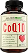 CoQ10 Cardiovascular Health in Softgels. Best Anti-Oxidant & Anti-Aging. All Natural & Non-Gmo for a Healthy Brain, Heart, Blood Pressure, Digestive & Immune System. Made in the USA