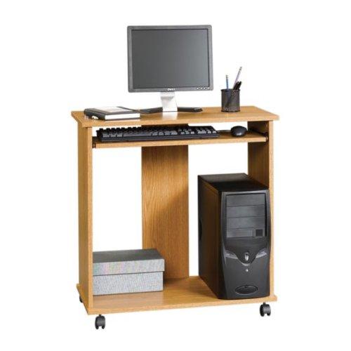 Buy Low Price Comfortable Oak Finish Computer Desk Cart (B001DO14AW)