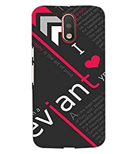 MOTOROLA MOTO G4 PLUSI LOVE YOU Back Cover by PRINTSWAG