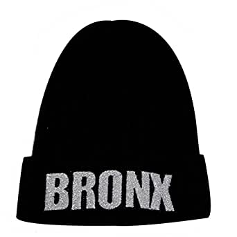City Hunter Sk1170 Bronx Glitter Patch Beanie Hat at Amazon Men's Clothing store: