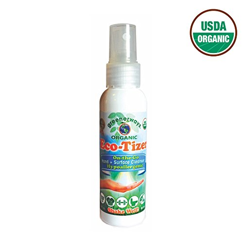 Natural All Purpose Cleaner, Hand Sanitizer Travel Size, Household Cleaner - USDA Organic - Streak-Free Multi-Surface Spray, Chemical & Alcohol Free, Child & Pet Safe, Made with Essential Oils - 2 oz (Endust Furniture Spray compare prices)