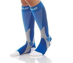 MoJo Recovery & Performance Sports Compression Socks - Blue Medium