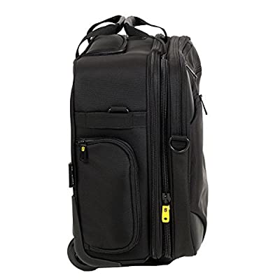 "GATE8 2-in-1 Business Mate carry-on bag for Easyjet, Ryanair, Air Lingus - Lightweight laptop Trolley, Cabin bag, Wheeled Laptop Roller Bag to protect 13"", 15.6"" & 17.3"" inch laptops & iPad"