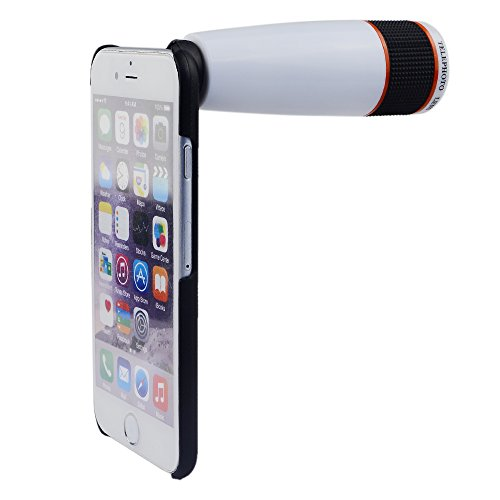 Apexel 12x Optical Zoom Telephoto Lens with Hard Case for iPhone 6 White