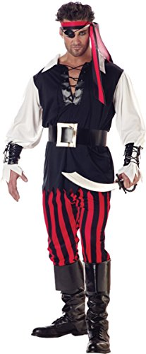 Morris Costumes Cutthroat Pirate Adult Xlg
