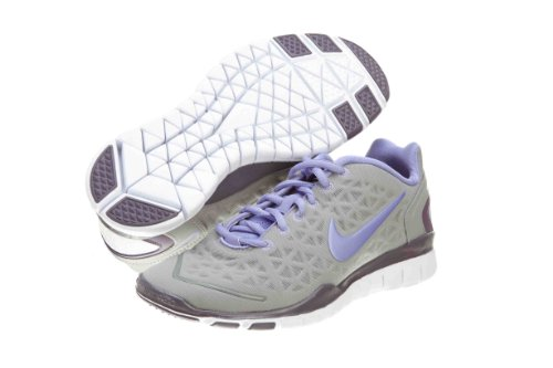 reputable site 357e4 95258 Womens Nike Free TR Fit 2 Running Shoes Medium Grey Violet Purple 487789  019 Size 6
