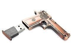 Metal Gun Pistol Shape 8GB 8G USB Flash Drive Pen Drive Memory Stick USB Flash Disk