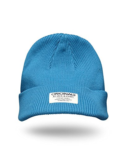 JACK & JONES ORIGINALS berretto BEANIE STEFAN Blue Jewel Taglia unica