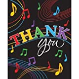 Dancing Music Notes Thank You Cards (8) Birthday Dance Party Supply