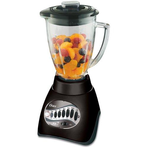 Oster BLSTCC-BFP 6-Cup Glass Jar 12-Speed Blender Plus 3-Cup Food Processor, Black