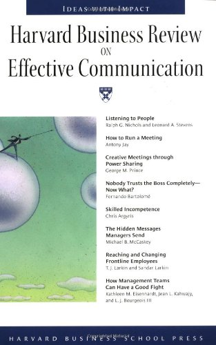 Harvard Business Review on Effective Communication...