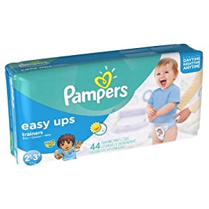 Pampers Easy Ups Boys Mega Pack , 44 Count , Size (2T-4T)