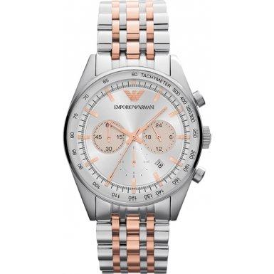 Emporio Armani AR5999 Two Tone Tazio Sports Watch