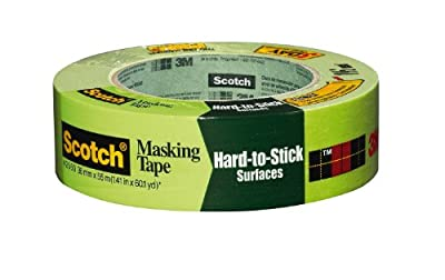 3M 2060 Scotch Masking Tape for Hard-to-Stick Surfaces, 1.5-Inch by 60-Yard, 1-Pack